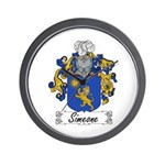 Simeone Family Crest Wall Clock