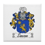 Simeone Family Crest Tile Coaster