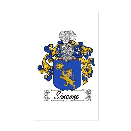 Simeone Family Crest Rectangle Sticker