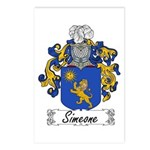 Simeone Family Crest Postcards (Package of 8)