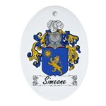 Simeone Family Crest Oval Ornament