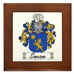Simeone Family Crest Framed Tile