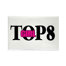 Top 8 Girl Rectangle Magnet