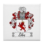 Silva Family Crest Tile Coaster