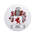 Silva Family Crest Ornament (Round)