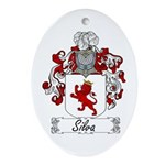 Silva Family Crest Oval Ornament