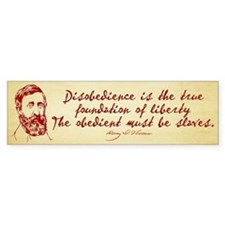 Thoreau Disobedience Car Sticker
