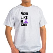 Fight Like A Girl Hodgkin's Lymphoma T-Shirt