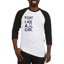 Fight Like A Girl Hodgkin's Lymphoma Baseball Jers