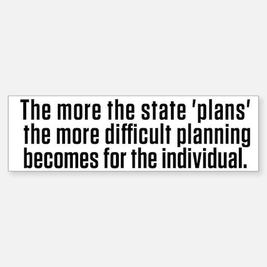 Hayek Central Planning Sticker (Bumper)