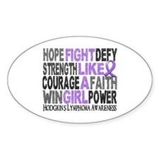 Fight Like A Girl Hodgkin's Lymphoma Decal