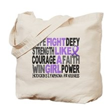 Fight Like A Girl Hodgkin's Lymphoma Tote Bag
