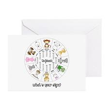 Gohana Zodiac Greeting Cards (Pk of 10)