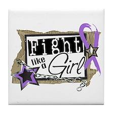 Fight Like A Girl Hodgkin's Lymphoma Tile Coaster