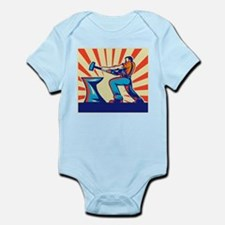 blacksmith striking hammer Infant Bodysuit