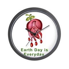 Earth Day is Every Day Wall Clock