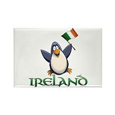 Ireland Penguin Rectangle Magnet