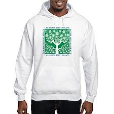 Tree of Love Green Jumper Hoody