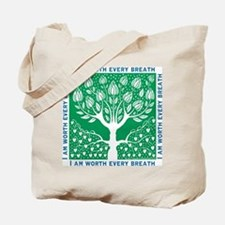 Tree of Love Green Tote Bag