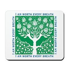 Tree of Love Green Mousepad