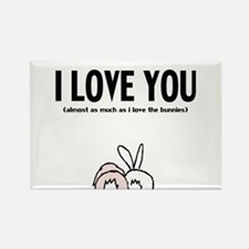 Cute Bunny day Rectangle Magnet (100 pack)