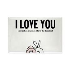 Cute Bunny day Rectangle Magnet
