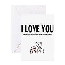 Cute Bunny day Greeting Card