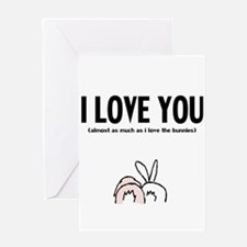 Unique Bunny day Greeting Card
