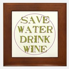 Save Water... Framed Tile