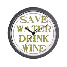 Save Water... Wall Clock