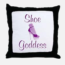 Shoe Goddess Throw Pillow