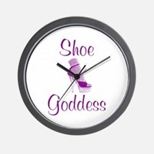 Shoe Goddess Wall Clock