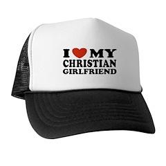 I Love My Asian Girlfriend Trucker Hat