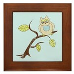Lazy Owl Framed Tile