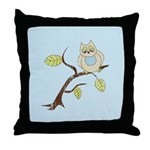 Lazy Owl Throw Pillow
