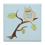 Lazy Owl Tile Coaster