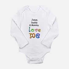 Funny Daddy loves me Long Sleeve Infant Bodysuit