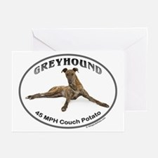 GVV Greyhound Couch Potato Greeting Cards (Pk of 2
