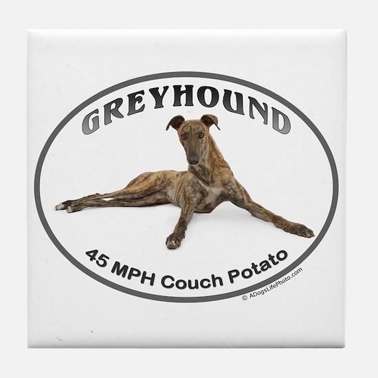 GVV Greyhound Couch Potato Tile Coaster