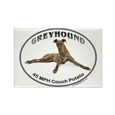 GVV Greyhound Couch Potato Rectangle Magnet