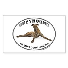 GVV Greyhound Couch Potato Decal