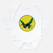 Cute Hornet Long Sleeve Infant Bodysuit