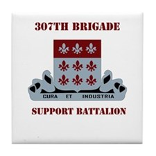 DUI - 307th Bde - Support Bn with Text Tile Coaste