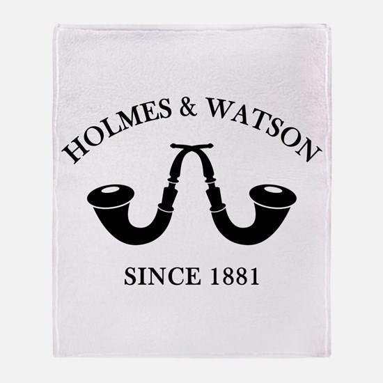 Holmes & Watson Since 1881 Throw Blanket