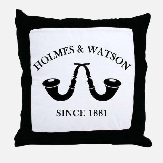 Holmes & Watson Since 1881 Throw Pillow