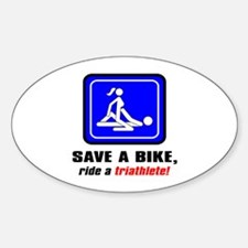 """Save a bike..."" Oval Decal"