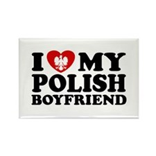 I Love My Polish Boyfriend Rectangle Magnet