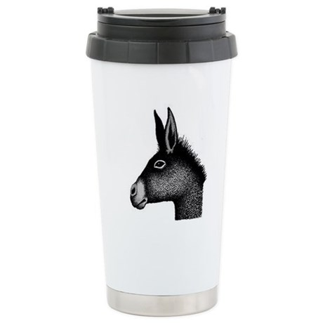 donkey drawing Stainless Steel Travel Mug