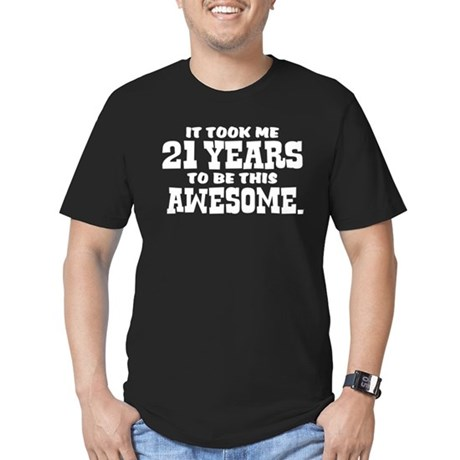 Funny 21st Birthday Men's Fitted T-Shirt (dark)