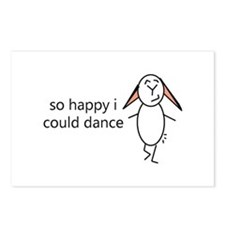 Cute Happy bunny day Postcards (Package of 8)